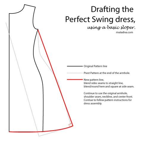pattern drafting adding ease drafting the perfect swing dress sew pinterest