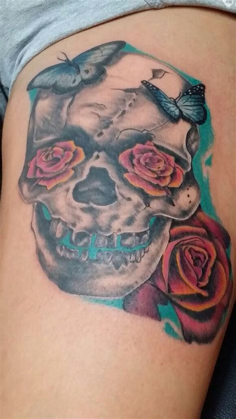 evil rose tattoo skull roses skulls and evil smile