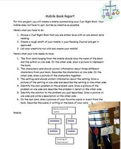 mobile book report template mobile book report template project may informational