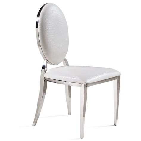 Modern Stainless Steel Dining Chair European Chair Cloth Steel Dining Chair