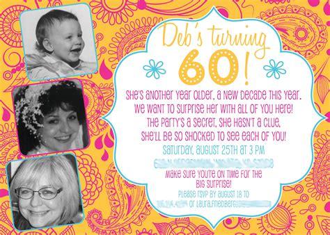 exles of 60th birthday invitations 60th birthday invitations bagvania