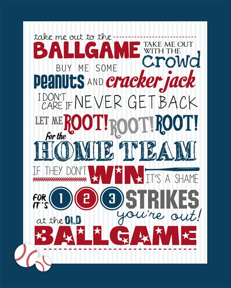 party in your bedroom lyrics take me out to the ballgame free printable how to nest