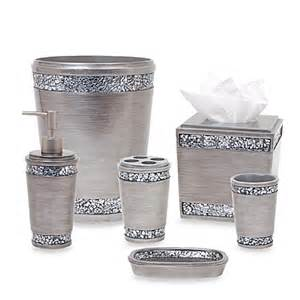 bed bath and beyond bathroom accessory sets omni bath ensemble in pewter bedbathandbeyond ca