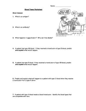 Blood Types And Transfusions Worksheet by Fillable Blood Types Worksheet Crane High School