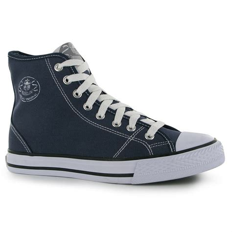 canvas high top lace up sneakers dunlop womens canvas high top trainers lace