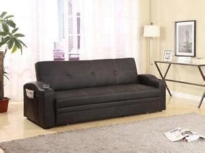 crown 5310 easton contemporary black adjustable sofa bed with cup holders ebay