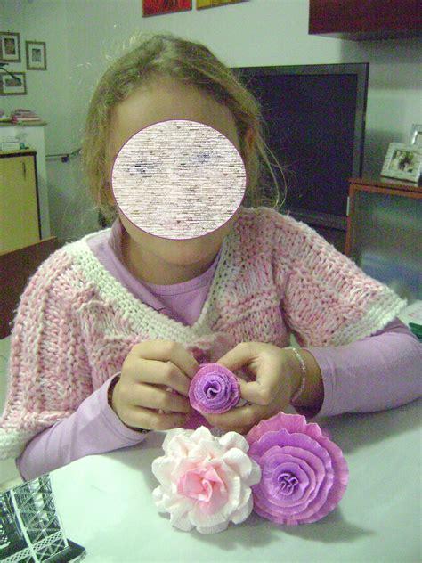 fiori di cartapesta il piccolo mondo di perlina fiori di carta crespa