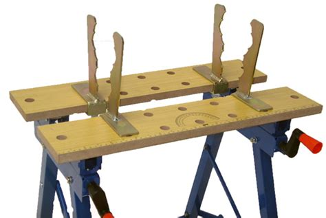 cutting bench saw horse log wood holder clamp jaws tilting workmate