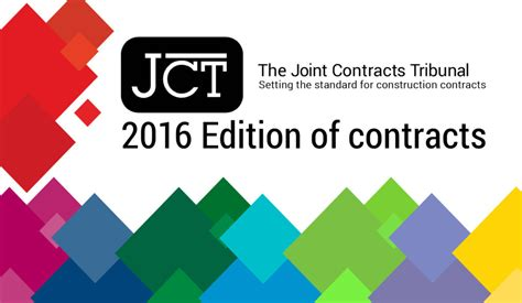 jct design and build contract 2005 edition jct 2016 edition the joint contracts tribunal