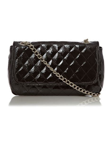 Quilted Chain Crossbody Bag kenneth cole reaction quilted chain crossbody bag in black