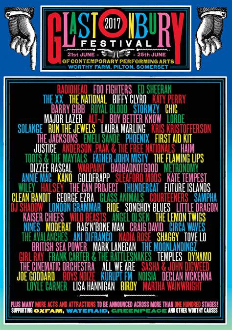 glastonbury festival line ups wikipedia the free glastonbury festival 2017 line up so far glastonbury