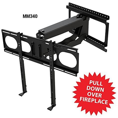 Pull Tv Mount Fireplace by Mantelmount Mm340 Pull Fireplace Tv Mount For 44 Quot 80