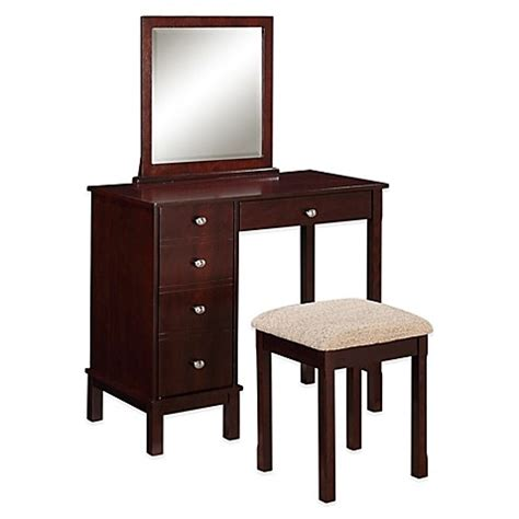 vanity and bench sets buy linon home julia vanity and bench set in walnut from