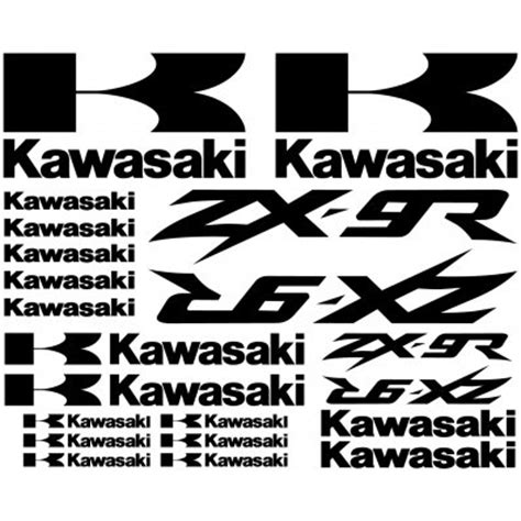 Kawasaki Zx9r Aufkleber by Wandtattoos Folies Kawasaki Zx 9r Aufkleber Set