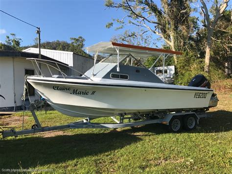 boat pods for sale savage marlin 6 5 m with pod trailer boats boats online