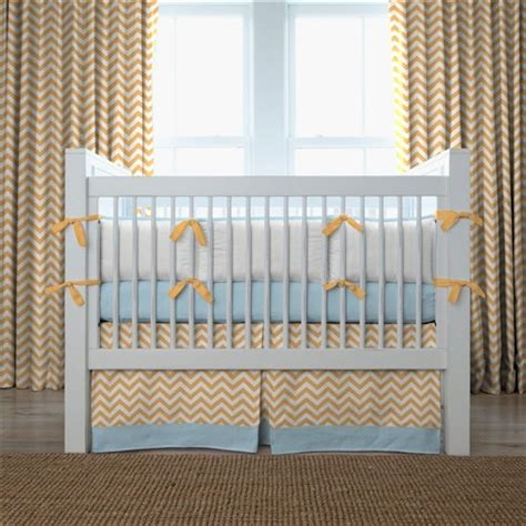 Next Nursery Curtains Gorgeous Chevron Crib Bedding In Nursery Contemporary With Side Drapes Next To Fabric Ottoman
