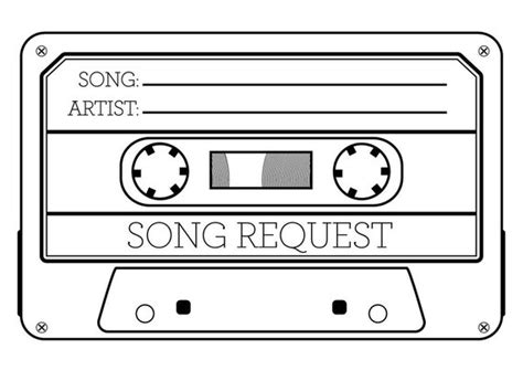 song request card template 20 x song request cards wedding dj cards song request