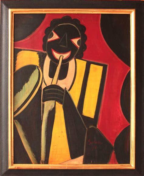Jazz Hugo hug 243 scheiber jazz musician painting for sale at 1stdibs