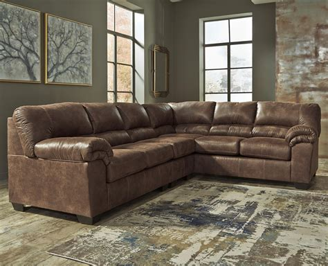 ashley furniture sectional couches signature design by ashley bladen 3 piece faux leather