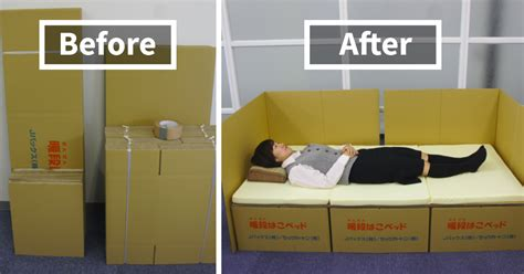 what to do in bed boxes into beds brilliant idea helps earthquake victims