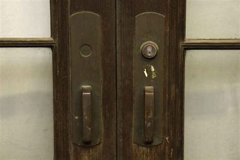 Kick Plates For Interior Doors Doors With Large Bronze Pulls Kick Plates Olde Things