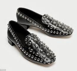 zara studded loafers this season s trendy black flats are far from basic