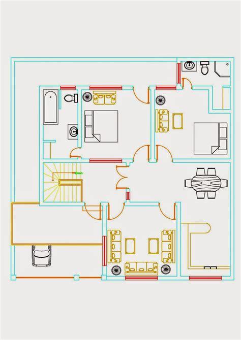 auto cad drawings 6 marla floor plan