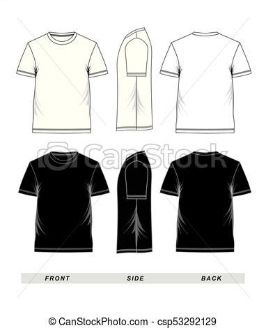 T Shirt Template Short Sleeve Black And White T Shirt Template Short Sleeve Blank Front Side Black Sleeve Shirt Template