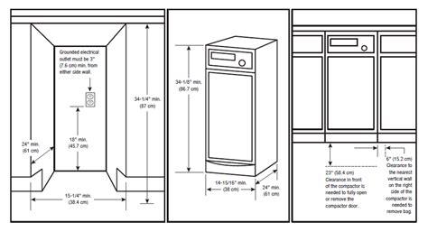 awe inspiring kitchen island size requirements with standard kitchen trash can size awe inspiring kitchen