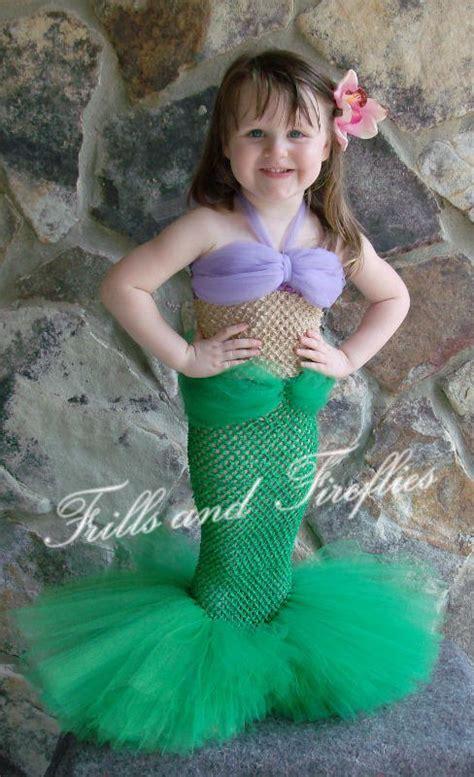 little mermaid costume etsy items similar to little mermaid tutu costume set w flower