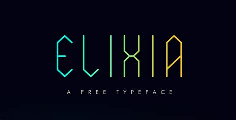 geometric pattern font elixia free geometric display font