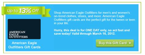 American Eagle Gift Card Walgreens - plastic jungle 13 off american eagle gift cards