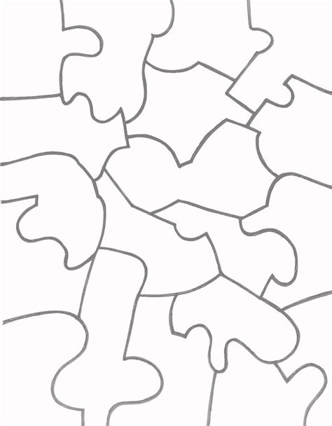Paper Jigsaw Puzzle Templates Learn To Coloring Easy Templates