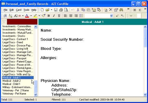 Personal Records Keeping Family Personal Records Organizer For Health Family History
