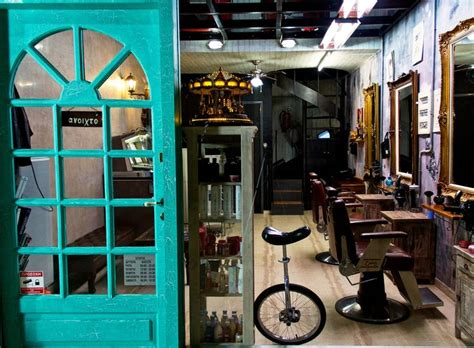barber shop interior design barber chairs and a unicycle mitseas barber shop