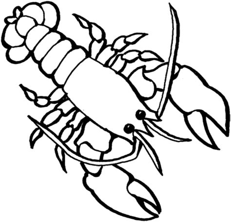lobster 2 coloring page supercoloring com