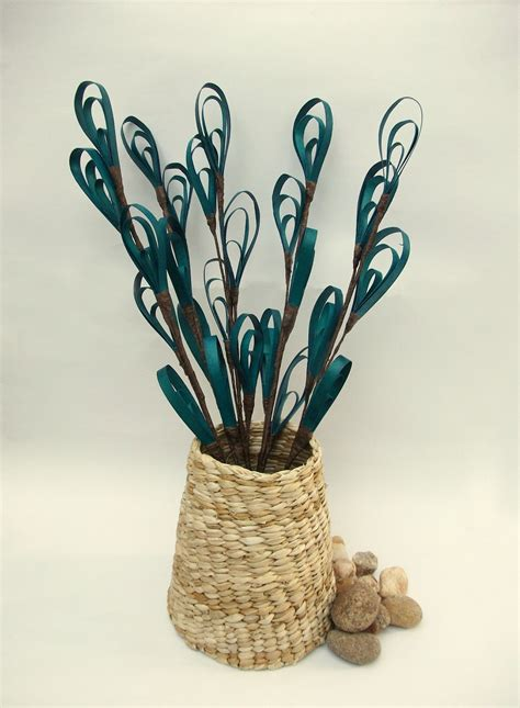 home decoration pieces springbloom flower art in turquoise online shopping