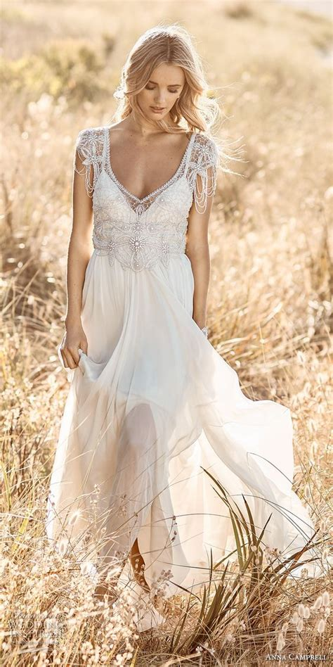 beaded bohemian wedding dress 30 stunning wedding dresses with cap sleeves decor advisor