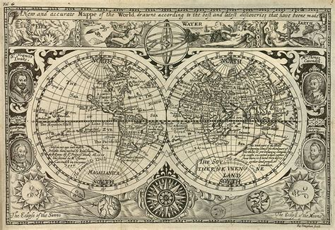 History Files Voyages Of Discoveries 1 file vaughan a new and accurate mappe of the world