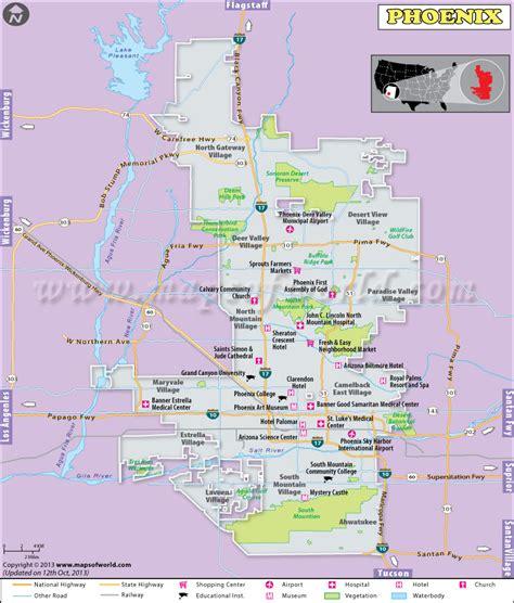 printable phoenix area map arizona city limits map my blog