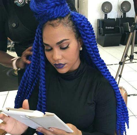 platinum blonde and blue crochet marley crochet braids braids twist pinterest hair