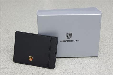 Porsche Kreditkarte by Orig Porsche Design Wappen Kreditkarten Etui Kreditkarten