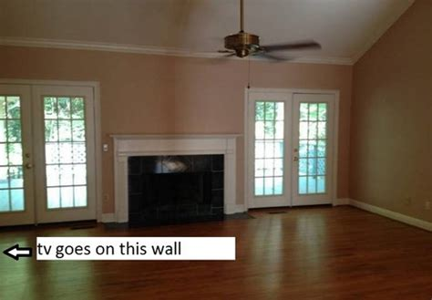 Arrange Living Room With Fireplace And Tv by How To Arrange Living Room Seating Fireplace Tv On 2 Walls