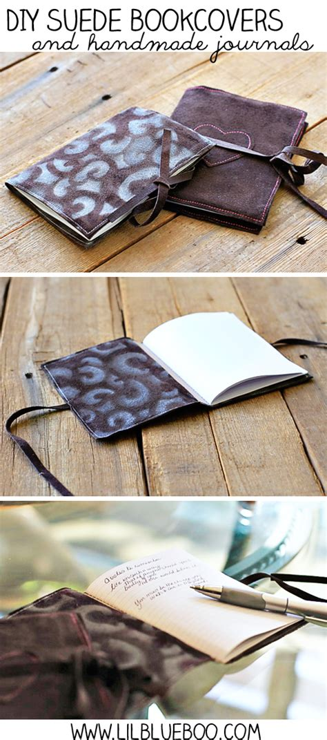 Handmade Journals Diy - diy suede bookcovers and handmade journals