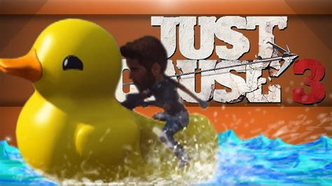 duck boat just cause 3 easter egg madness just cause 3 giant head gun duck