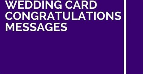 35 Best Wedding Card Congratulations Messages   Wedding