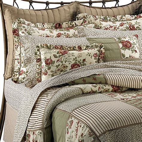 Modern Farmhouse Style Decorating Glenmore Comforter Set By Laura Ashley 100 Cotton Bed