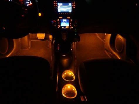 Interior Illumination by Interior Accent Lighting Footwell Cup Holders
