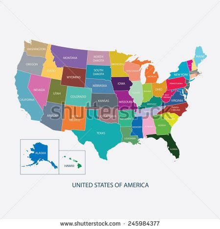 usa map with country names colorado map stock photos images pictures