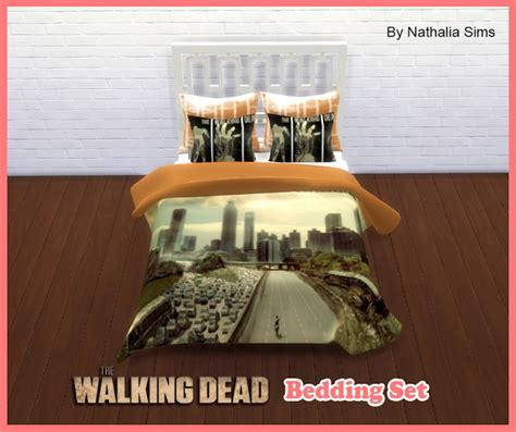 the walking dead bed set the walking dead bedding set at nathalia sims 187 sims 4 updates